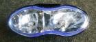 Scheinwerfer ALIEN oval, blaues Glas